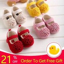 Candy Colors Newborn Baby Prewalker Soft Bottom Anti-slip Shoes