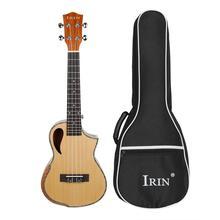 IRIN 23-inch Ukulele Wood Panel Cutaway Arm Guard Wood Color Ukulele High Quality Pure Full Sound Stringed Musical Instrument