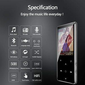 Image 2 - MP3 Speler, Benjie 16Gb 2.4 Inch MP3 Bluetooth 4.0 Hifi Lossless Muziekspeler, tft kleurenscherm/Fm Radio, Maximale Ondersteuning 128Gb