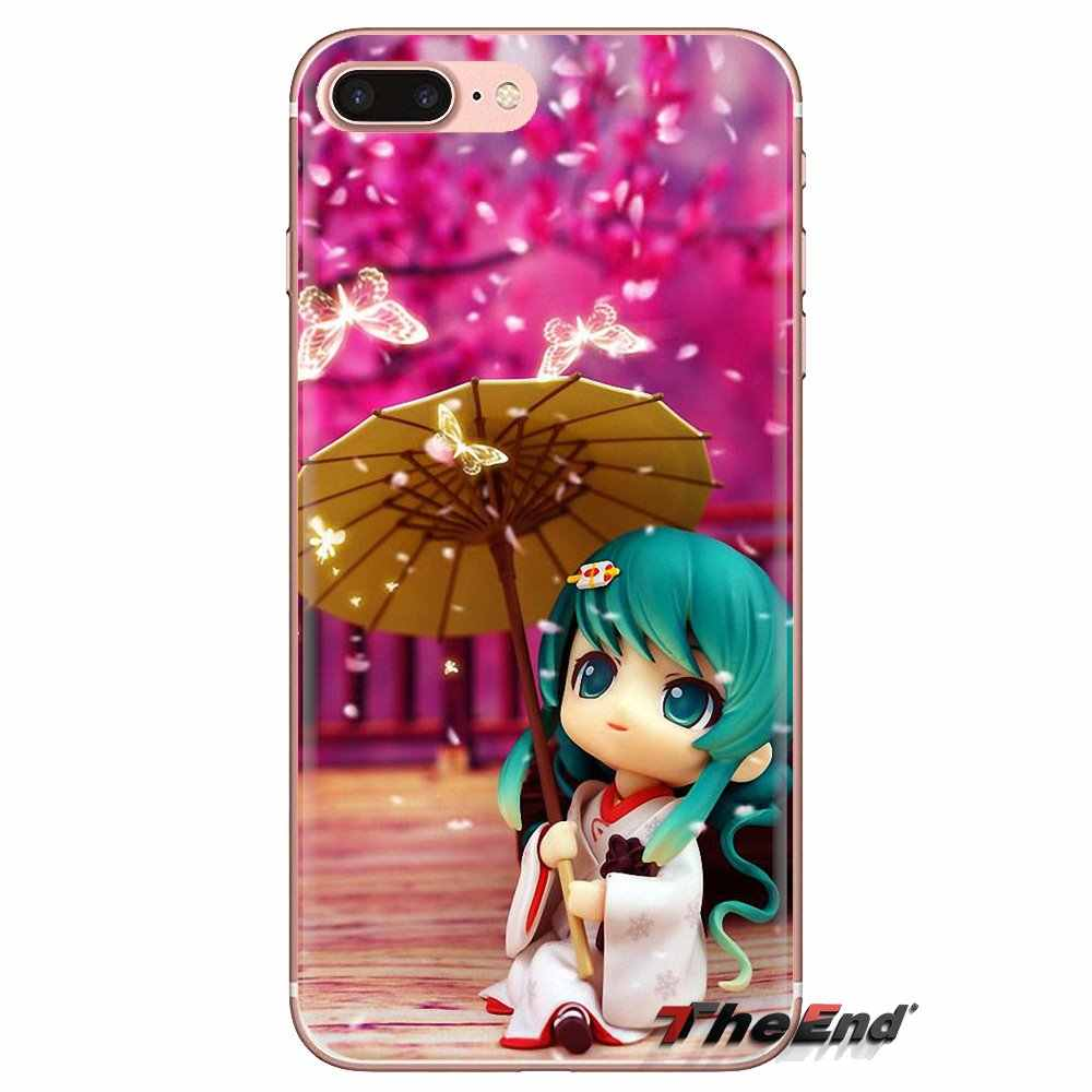 Dakimakura Nhật Bản Hatsune Miku Trong Suốt TPU Túi Ốp Lưng Dành Cho Samsung Galaxy Samsung Galaxy S3 S4 S5 Mini S6 S7 Edge S8 S9 s10 Plus Note 3 4 5 8 9