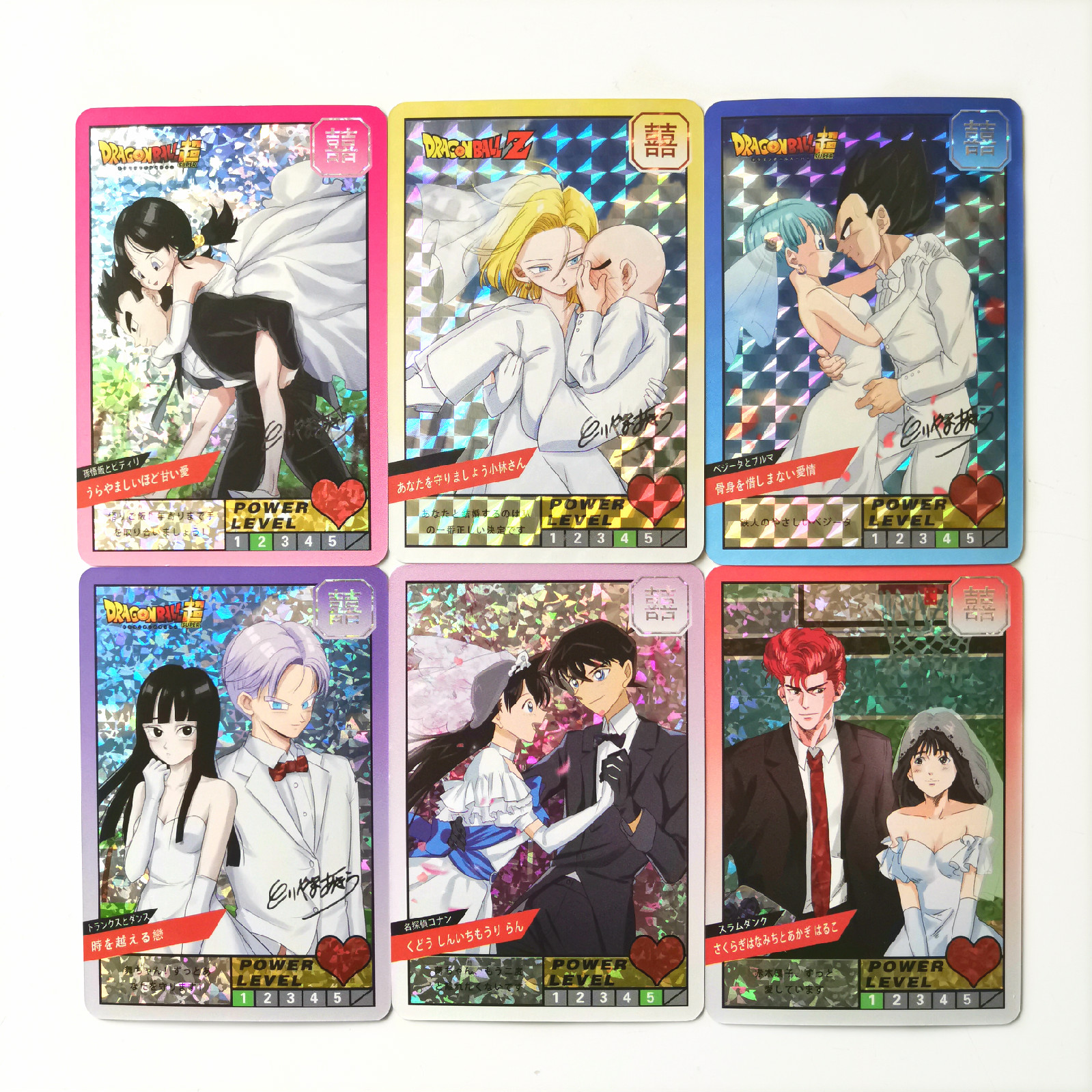 6 Styles Marry Super Dragon Ball Z Detective Conan SLAM DUNK Limited Special Heroes Battle Card Vegeta Game Collection Cards