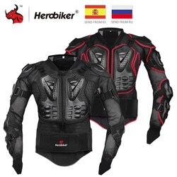 HEROBIKER pancerz motocyklowy ochronny sprzęt Motocross biegów zbroja ciała skrzynia Moto Rider kurtka wyścigowa ochrona motocykla S 5XL w Pancerz od Samochody i motocykle na
