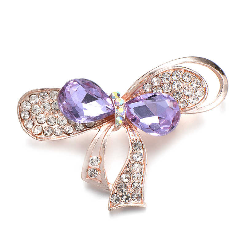 Iyoe Gaya Modern Vintage Bunga Kristal Busur Simpul Bros untuk Wanita Mewah Gaun Perhiasan Mahkota Pin Bunga Matahari Daun Pohon Bros