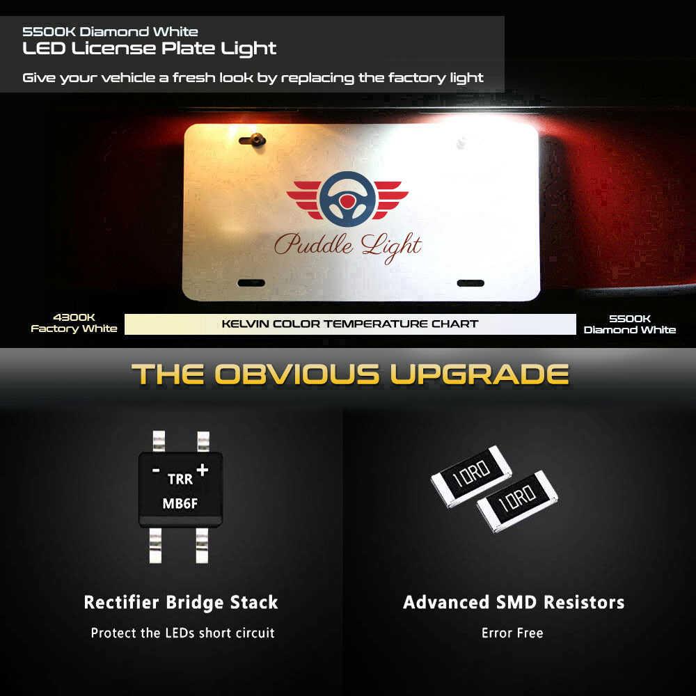 2 قطعة في Canbus السيارات LED ترخيص رقم لوحة ضوء مصابيح لأودي A3 8P S4 A4 B6 B7 RS4 A5 8F A6 C6 RS6 A8 S8 Q7 4L اكسسوارات السيارات