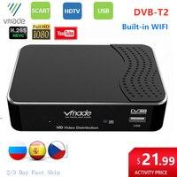 DVB T2 receptor digital hd 1080p dvb t2 conjunto caixa superior embutido suporte wi fi youtube dvb t2 h.265 hevc dolby ac3 tv decodificador sintonizador Receptor de TV via satélite Eletrônicos -