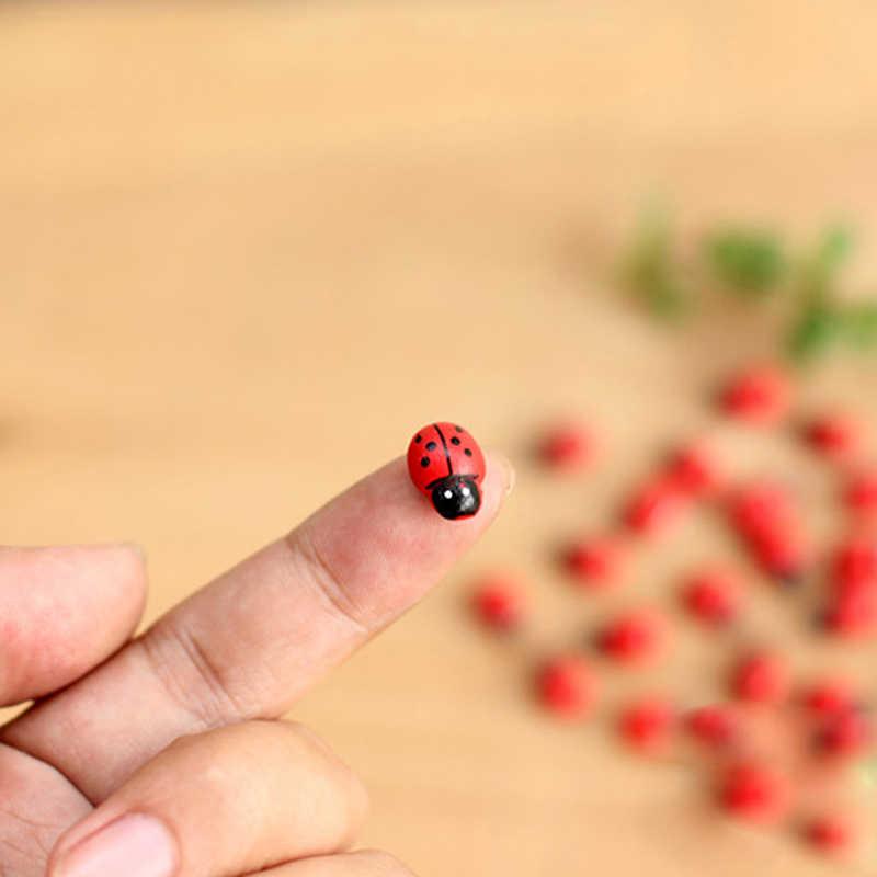 10 sztuk Mini biedronka czerwony chrząszcz biedronka wróżka domek dla lalek ogród ozdoba dekoracyjna J6PD
