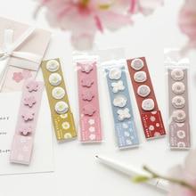 цена на Japanese Stationery Stickers Cute Sticky Paper Kawaii PVC Diary sticker Handbook sticker For Decoration Diary Scrapbooking