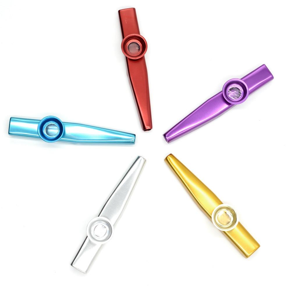 Simple Design Lightweight Portable Metal Kazoo Lightweight For Beginner Flute Instrument Music Lovers Woodwind Instrument