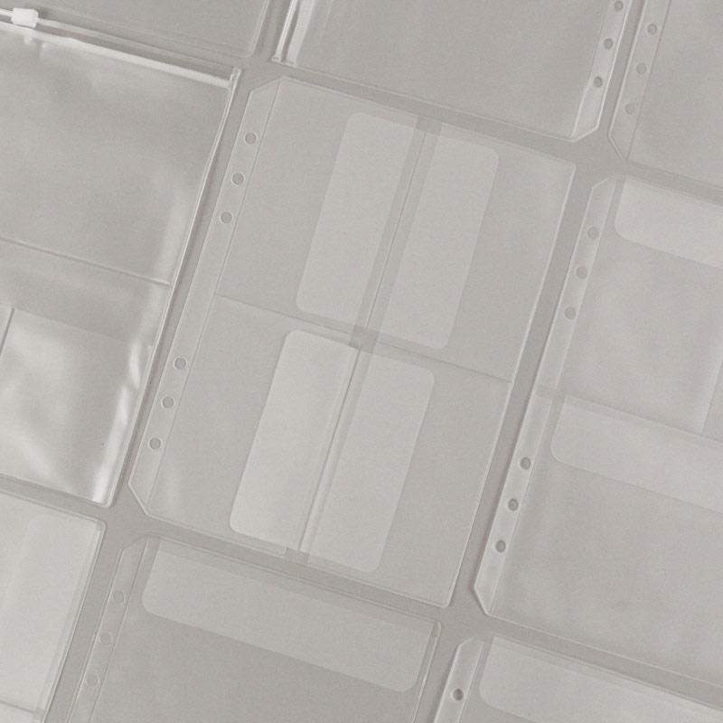 20pcs Transparent A5 Multi-model Combination Storage Bag PVC Loose-Leaf Pouches 6 Holes Binder Postcard Template Organizer  Conc