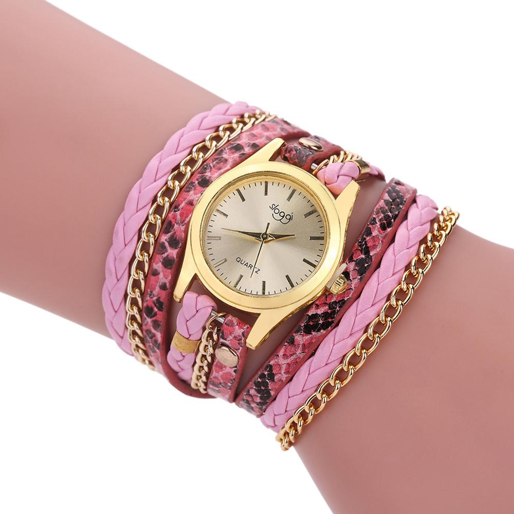 Foloy Women Watch Popular Quartz Watches Fashion Luxury Bracelet Gemstone Wristwatch Casual Bracelet Female Watch
