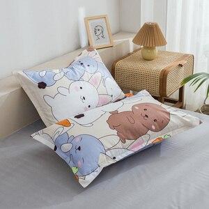 Image 5 - กระต่ายและแครอทพิมพ์ชุดเครื่องนอนการ์ตูนน่ารักสัตว์ผ้านวมที่นอนปลอกหมอนผ้าปูเตียงเด็กผู้ใหญ่3/4Pcs