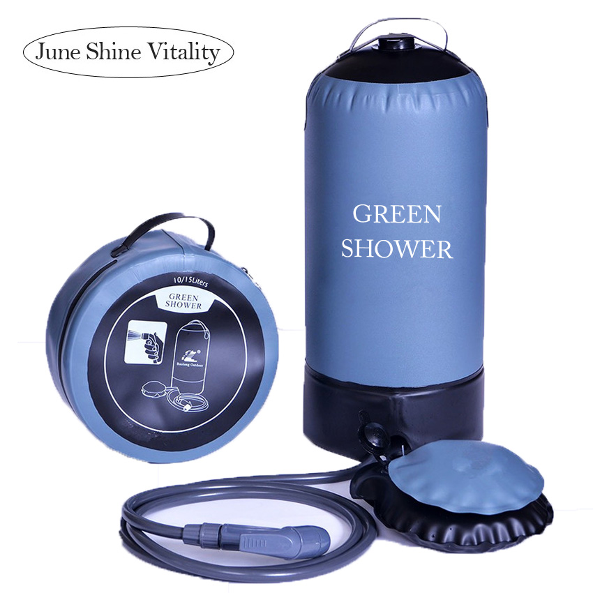 Outdoor Pressure Shower Portable 11L TPU Inflatable Shower Water Bag Camping Lightweight PVC Bathing Bag Washing Cars Tools