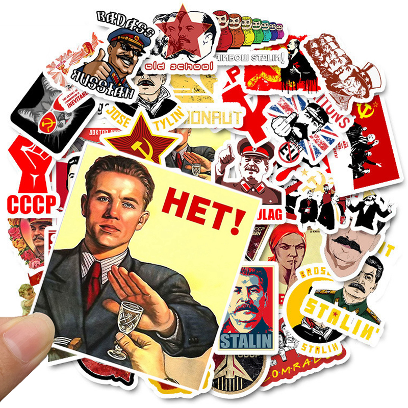 10/30/50PCS Mixed Soviet Union Stalin USSR CCCP Stickers Waterproof Skateboard  Motorcycle Luggage Guitar Kid Graffiti Stickers