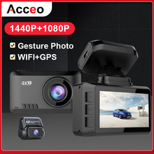 ACCEO B44 Car Camera 4K Dash Cam GPS Track WiFi Car DVR Dashcam Sony IMX335 Sens