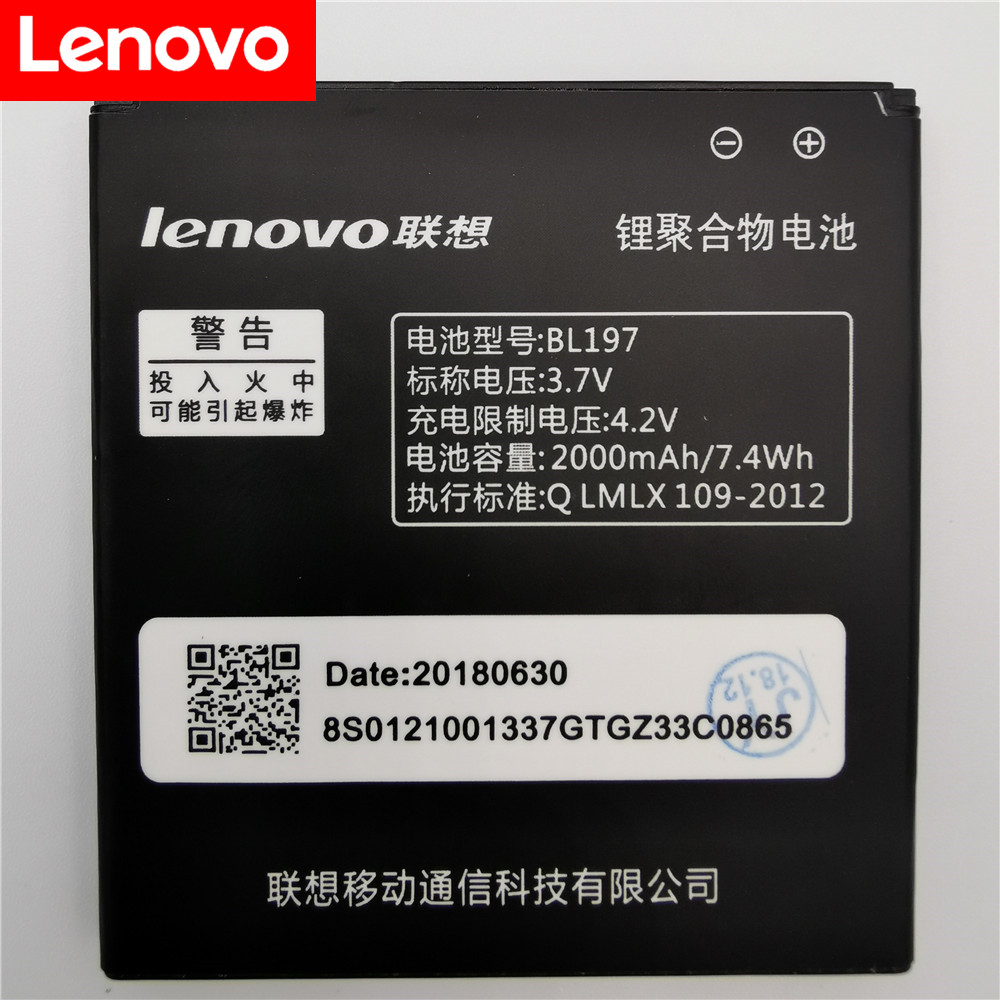 <font><b>Lenovo</b></font> A800 battery 2000mAh BL197 Battery for <font><b>LENOVO</b></font> A820 A820T S720 S720i A798T S889T S868T S899T <font><b>S750</b></font> S889 S870e Batteries image