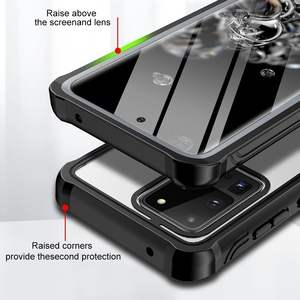 360 Heavy Duty Full Body Case For Samsung Galaxy S20 Ultra S10 Plus Note10 Plus 5G Shockproof Bumper Cover With Screen Protector