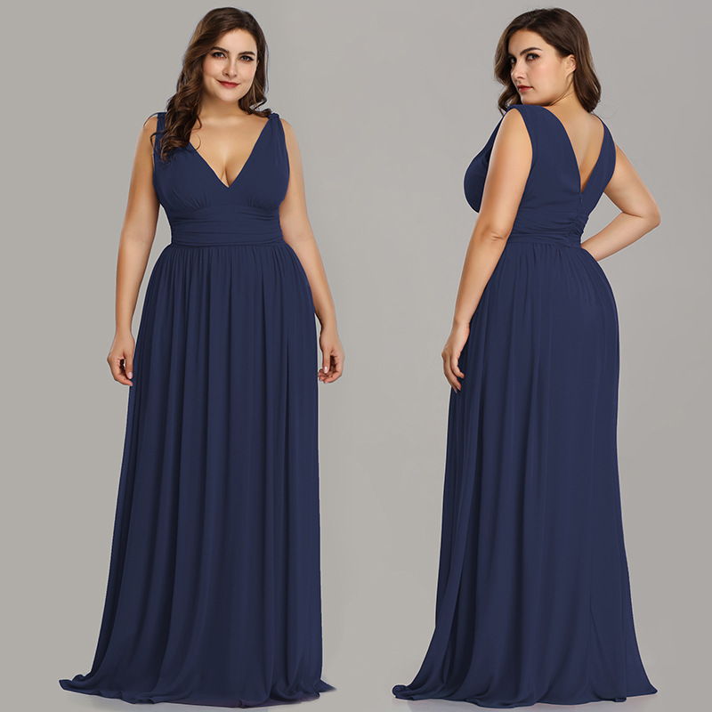 Evening Dresses Elegant V-Neck Chiffon With Zipper Formal Evening Gown Party Dress Fashion 2019