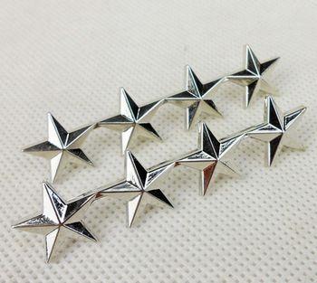 Par de insignias de METAL de rango GENERAL de 4 estrellas del oficial del ejército de EE. UU.