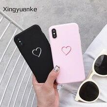 Cute Simple Love Heart Cases For Xiaomi Redmi Note 9S 4 4X 5 5A 6 7 8 8T 9 Pro Max 3S 4A 6A S2 Plus 7A 8A Case Silicone Cover luxury love heart case for xiaomi redmi note 9s 4 4x 5 5a 6 7 8 8t 9 pro max 3s 4a 6a s2 plus 7a 8a case silicone soft cover