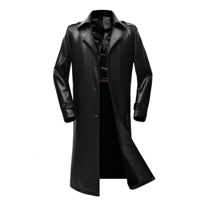 New Men's Long Leather Coat, A PU Wallet, A Raincoat, An  Man's Wallet