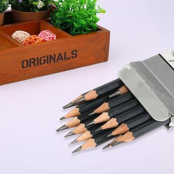 14pcs Pencil Jumbo Pencils Sketch Set Mead Primary Journa Drawing Pencil 6H/4H/2H/HB/1B/2B/3B/4B/5B/6B/7B/8B/10B/12B Pencil Sets