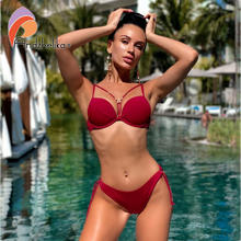 Andzhelika bikini 2018 женский купальник бикини с плотной чашкой и эффектом пуш апп AK5922 2