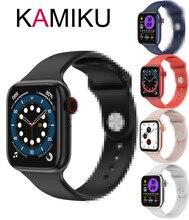 """2021 חדש 1.75 אינץ חכם שעון גברים/נשים Ip68 עמיד למים גוף טמפרטורת אק""""ג קצב לב צג Smartwatch עבור אנדרואיד IOS"""