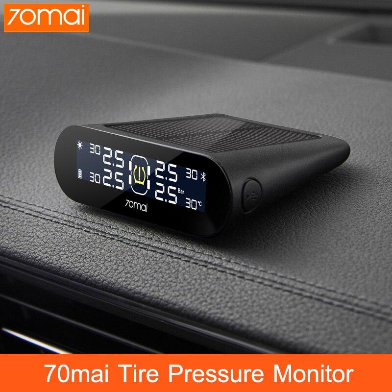 70mai система контроля давления в шинах TPMS Lite внешний датчик приложение контроль солнечной энергии USB tmps Lite 70MAI Автомобильная сигнализация дав...
