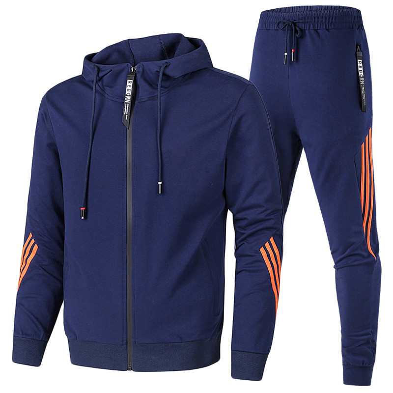 2020 Winter Sportswear Man Running SetsTracksuit Hooded Bodybuilding Rashgard Kit Men's Sports Suits Fitness Soccer Underwear
