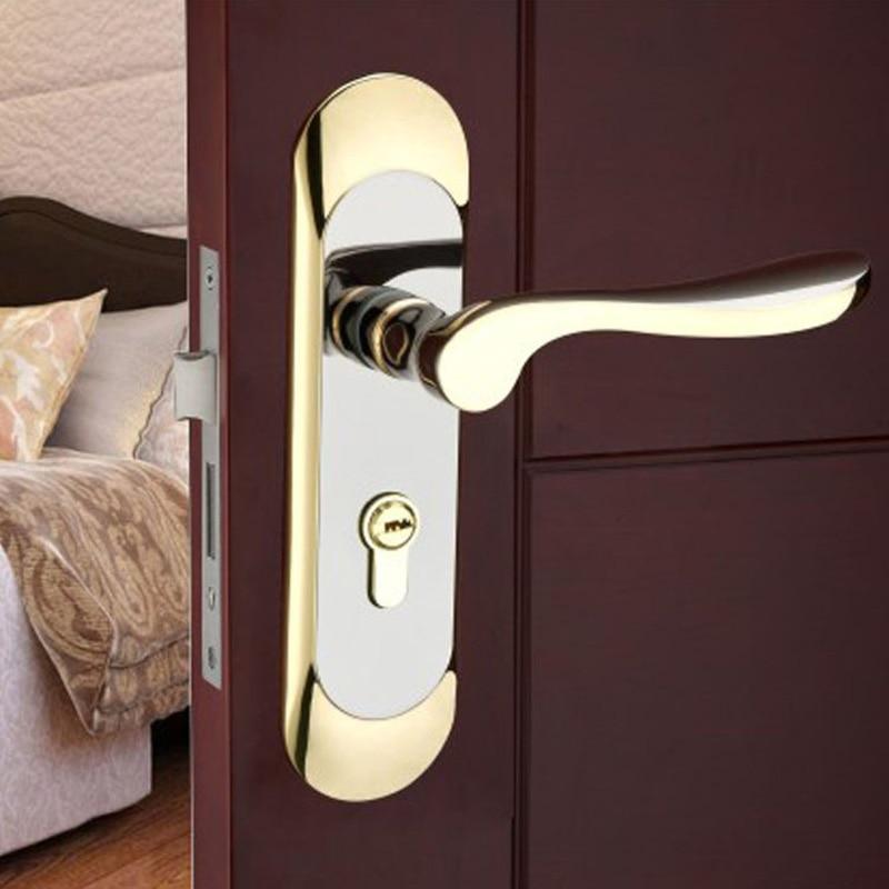 Zinc Alloy Quality Modern Design Door Locks And Handles For Interior Room Bedroom