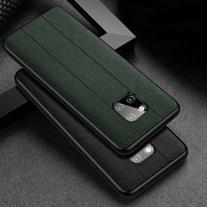 Fashion Genuine Leather & Silicone Back Case For Huawei Mate 20 Pro X RS Porsche Design 20X 5G Case Thin Shockproof Phone Cover(China)