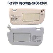Viseira de sol interna lhd para kia sportage 2005-2010 sunvisor protetor solar sombra com espelho kit frente peças de carro acessórios