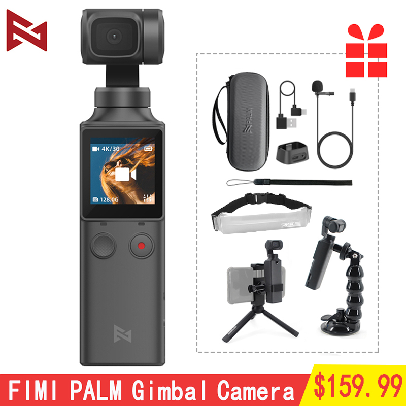 FIMI PALM Handheld Gimbal 3-Axis 4K HD Camera WiFi Bluetooth Stabilizer Smart Track Vlog Photography Video Touchscreen