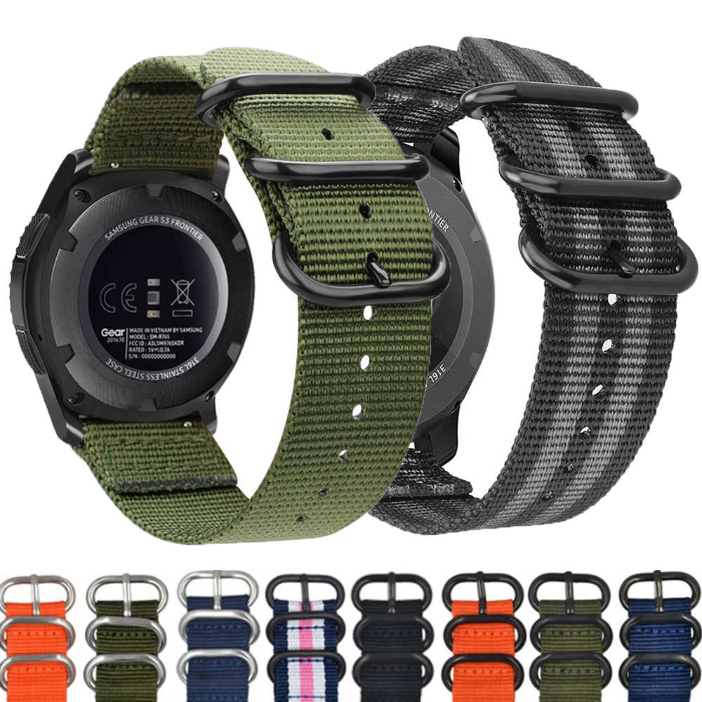 Galaxy Watch Active 2/1 For Samsung Gear S3 Frontier Watch 46mm Amazfit Bip Huawei Watch Gt Nato Strap Watch Band 22mm 20mm Band