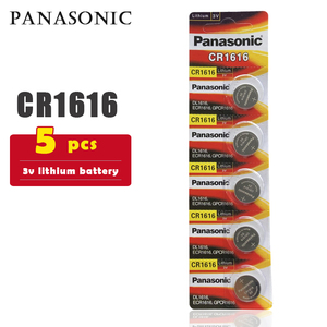 5PCS/lot PANASONIC Original CR1616 Button Cell Battery 3V Lithium Batteries CR 1616 for Watch Toys Computer Calculator Control(China)