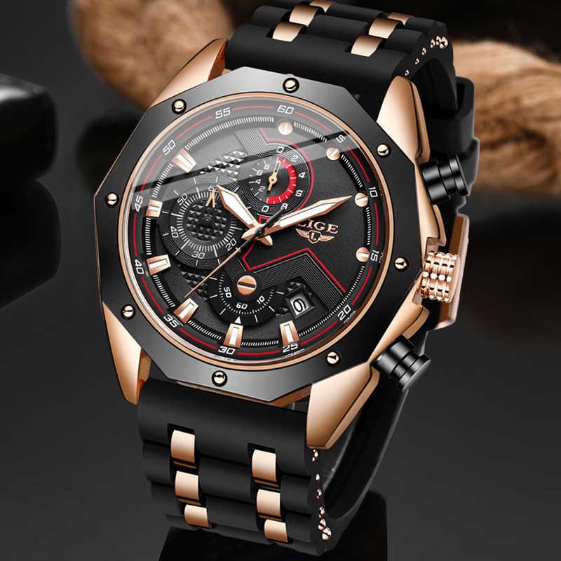2020 neue Militär Uhr Sport Herren Uhren LIGE Top Marke Luxus Uhr Wasserdicht Quarz Silikon Uhr Männer Relogio Masculino