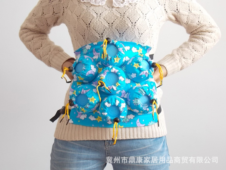 Winter Palace Abdominal Stomach Nine Cans Cotton Cloth Moxibustion Instrument Waist Moxibustion Box Portable Moxibustion Device