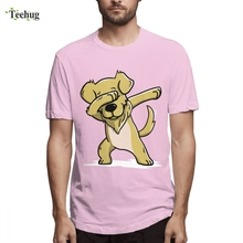Graphic For Boy Dabbing Golden Retriever Funny Tee Shirt Free Shipping Unique Design Male Tees
