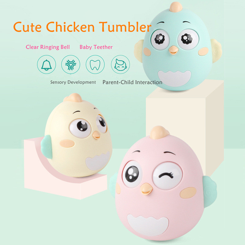 Newborn Baby Cute Tumbler Toys Kids Ringing Bells Rattles Creative Baby Teethers Baby Early Educational Toys
