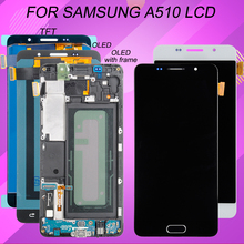 Replacement A510 Lcd Samsung Galaxy Digitizer Touch-Screen Catteny for with Assembly