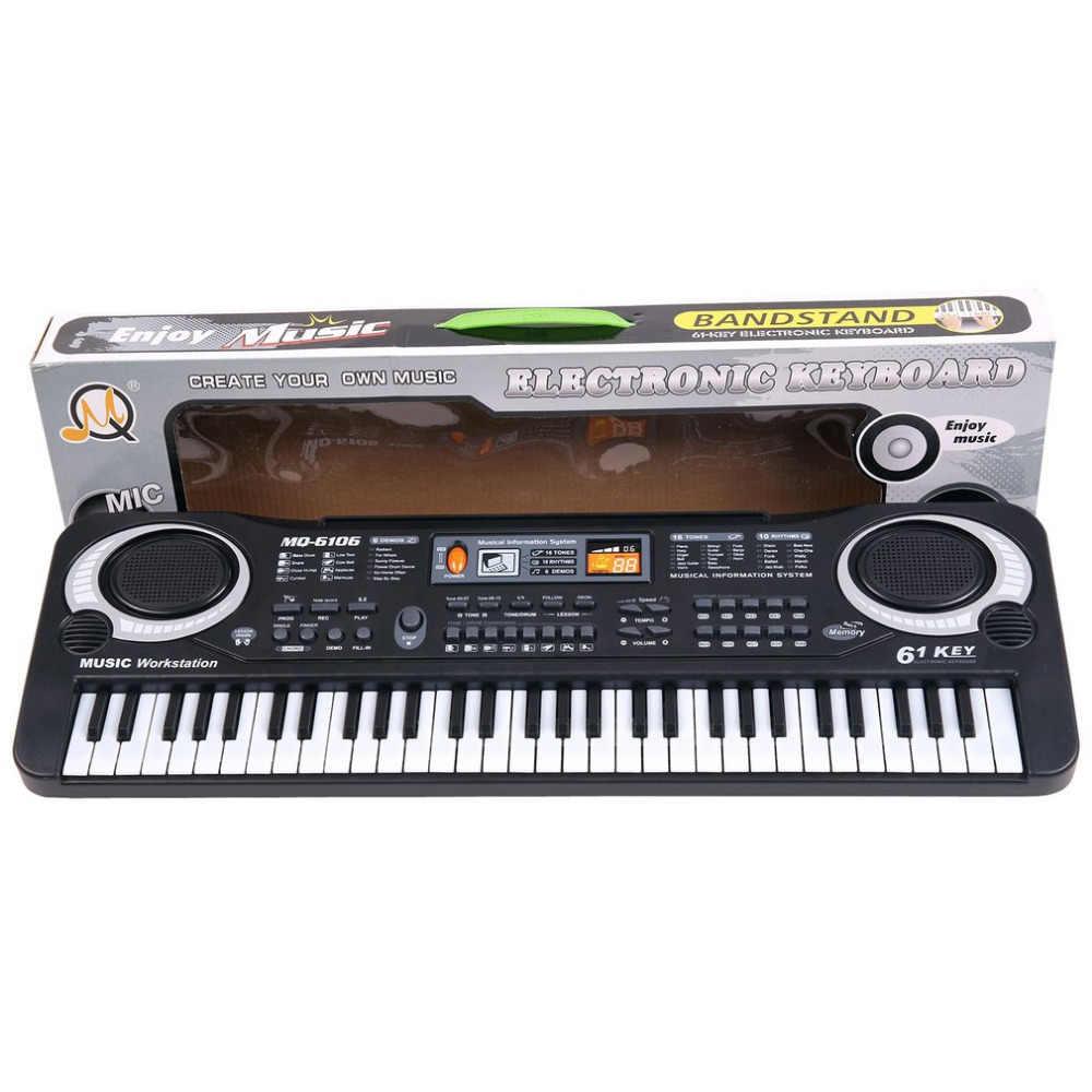 61 מפתחות דיגיטלי מוסיקה אלקטרוני מקלדת מפתח לוח חשמלי פסנתר ילדי מתנה חדש