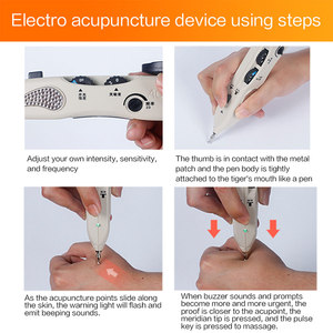 Image 4 - Electric Acupuncture Meridian Pen Electronic Acupuncture Pen Point Detector Acupressure Massage Pain Therapy Face Care Health