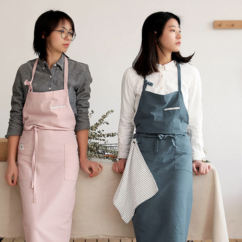 Cotton Linen Apron for Kitchen, for Cooking Floral Baking ,Korean Nordic Japanese Style,Women Kitchen Apron,Hairdresser Aprons new cotton aprons фартук canvas pockets baking chefs kitchen cooking apron фартук кухонный chefs with hat household merchandises