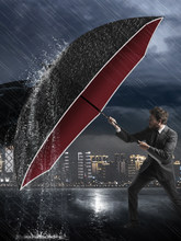 Verstärkt Business Schwarzen Regenschirm Männer Winddicht Große Auto Sonnenschirm Im Freien Reise Uv Schutz Sombrilla Rainware BF50UM
