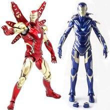 Apaffa 17 см Мстители Figma Железный человек перец Potts ПВХ Фигурка Игрушка Железный человек MK85 Коллекционная модель игрушки для детей