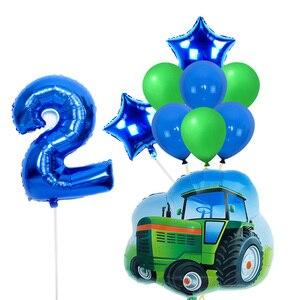Большой транспорт, воздушные шары для трактора 32 дюйма, 1-го дня рождения, вечерние украшения для детей, Детский душ, сюрприз globos