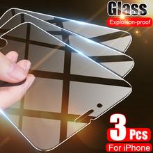 Szkło hartowane na telefon osłona na ekran ochrona dla iPhone 7 7 SE 8 6 6S Plus 11 Pro Max X XS Max XR 3 sztuki 2020 tanie tanio VONY CN (pochodzenie) Przedni Film Apple iphone Anti-Blue-ray For iPhone 6 Glass For iPhone 6s Glass For iPhone 6 Plus Glass