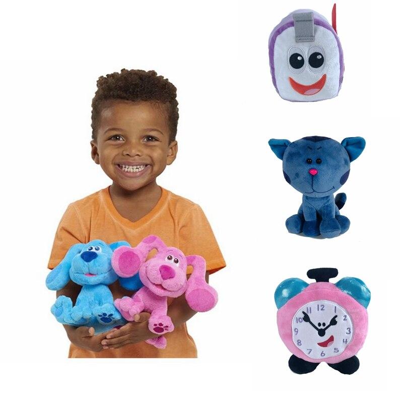Мультяшные милые синие подсказки и вы! Beanbag плюшевая голубая розовая собака мягкие животные плюшевые игрушки