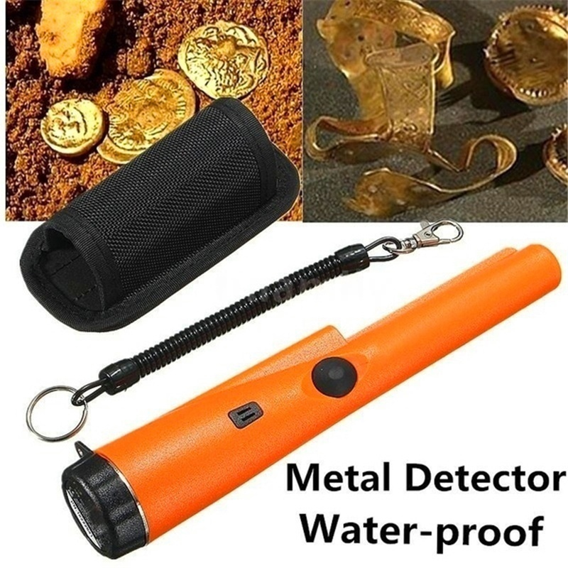Pinpointing Metal Detector Handheld Probe Metal Detector Light Static Alarm Security Pointer Instrument Tool With Bracelet