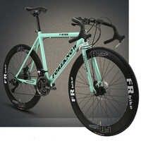 Bicicleta de carretera curva para deportes y entretenimiento, 21 velocidades, frenos de disco dobles, neumático sólido para estudiantes
